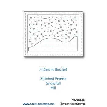 Your Next Die STITCHED FRAME WITH SNOW AND HILLS ynsd948
