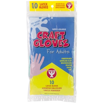 Hygloss Pack of 10 ADULT CRAFT GLOVES 97210