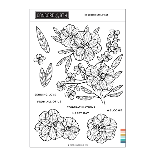 Concord & 9th IN BLOOM Clear Stamp Set 11004 Preview Image