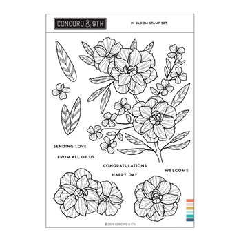 Concord & 9th IN BLOOM Clear Stamp Set 11004