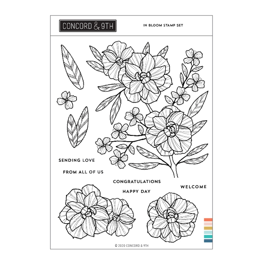 Concord & 9th IN BLOOM Clear Stamp Set 11004 zoom image