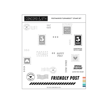 Concord & 9th POSTMARKED TURNABOUT Clear Stamp Set 11009