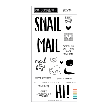 Concord & 9th SNAIL MAIL Clear Stamp Set 11010