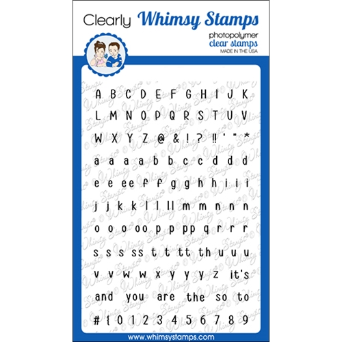 Whimsy Stamps ALPHABET MINI Clear Stamps CWSD350 Preview Image