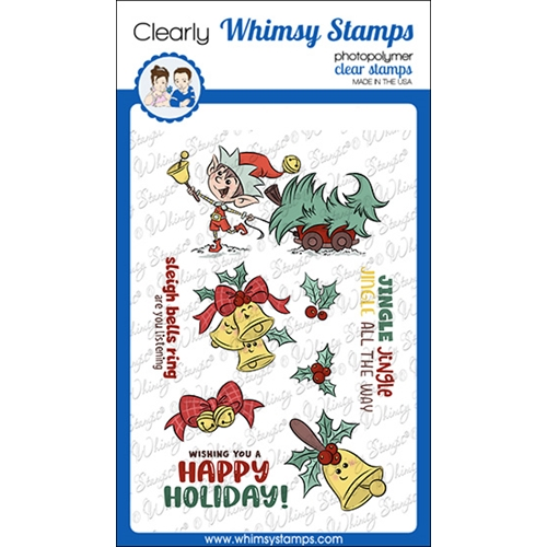 Whimsy Stamps JINGLE ALL THE WAY Clear Stamps KHB107a Preview Image