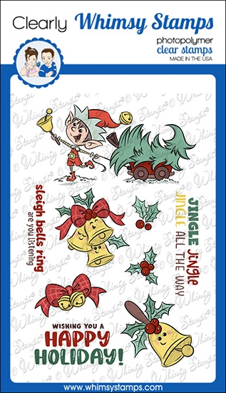 Whimsy Stamps JINGLE ALL THE WAY Clear Stamps KHB107a zoom image