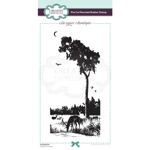 Creative Expressions TWILIGHT GRAZING Cling Stamp umsdb036 Preview Image
