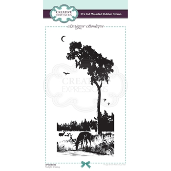 Creative Expressions TWILIGHT GRAZING Cling Stamp umsdb036