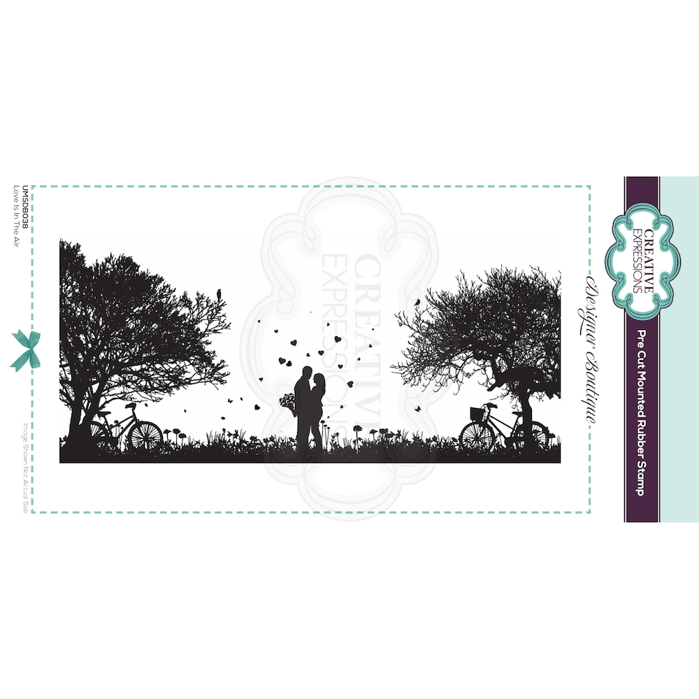 Creative Expressions LOVE IS IN THE AIR Cling Stamp umsdb038 zoom image