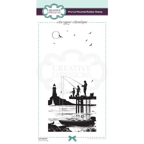Creative Expressions GONE FISHING Cling Stamp umsdb039 Preview Image