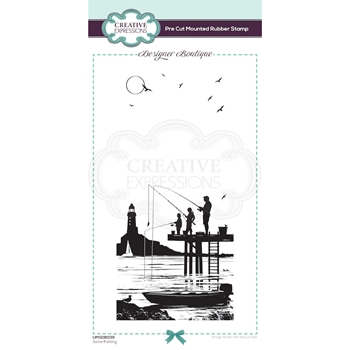 Creative Expressions GONE FISHING Cling Stamp umsdb039