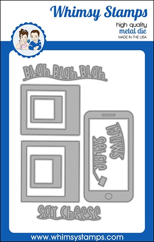 Whimsy Stamps SELFIE Dies WSD507 Preview Image