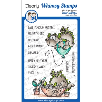Whimsy Stamps DRAGON NEW YEAR Clear Stamps DP1054