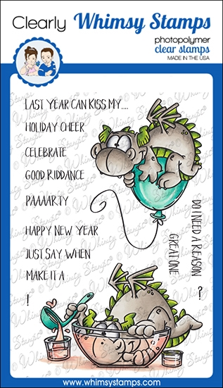 Whimsy Stamps DRAGON NEW YEAR Clear Stamps DP1054 zoom image