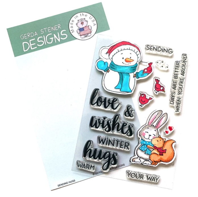 Gerda Steiner Designs SENDING HUGS Clear Stamp Set gsd738 zoom image