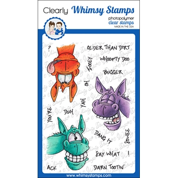 Whimsy Stamps WONKY DONKEY Clear Stamps DP1053