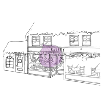 Purple Onion Designs BAKERY BACKGROUND Cling Stamp pod1213