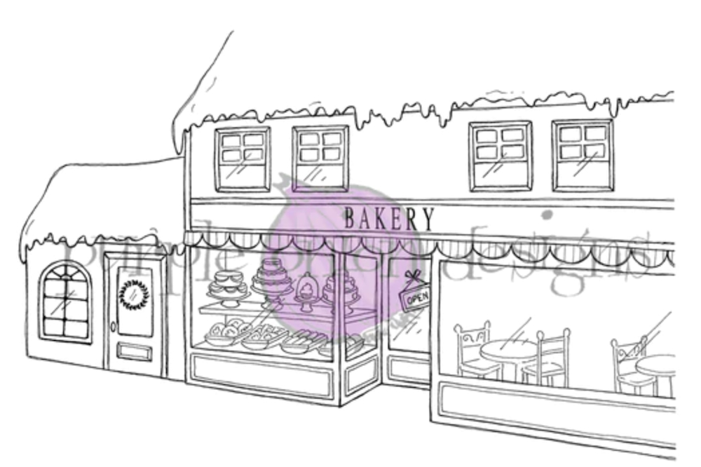 Purple Onion Designs BAKERY BACKGROUND Cling Stamp pod1213 zoom image
