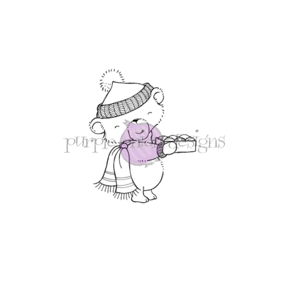 Purple Onion Designs CHESTNUT Cling Stamp pod1203 zoom image