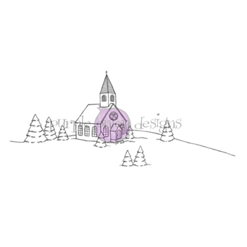 Purple Onion Designs CHURCH Cling Stamp pod1210