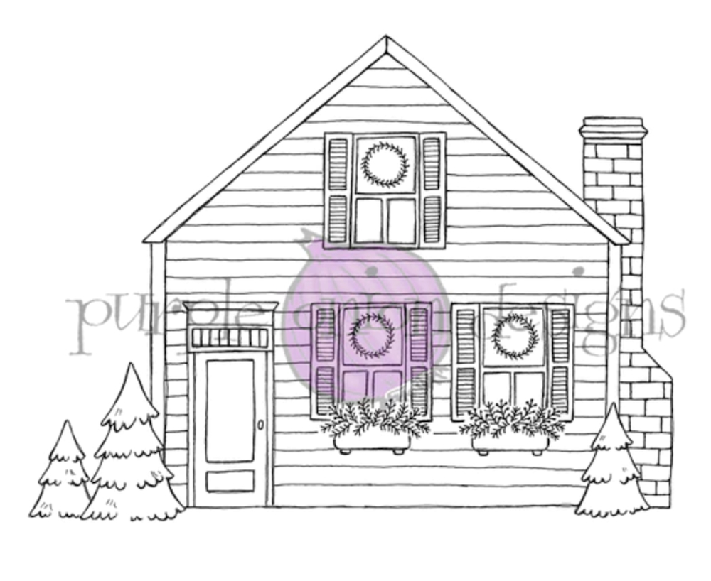 Purple Onion Designs COZY HOLIDAY HOME Cling Stamp pod1208 zoom image