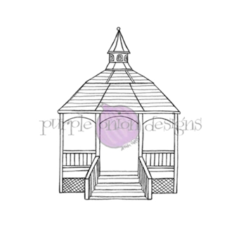 Purple Onion Designs GAZEBO Cling Stamp pod1207