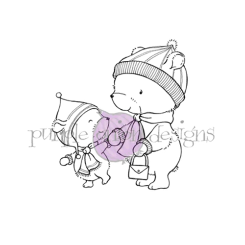 Purple Onion Designs MILES AND BETH Cling Stamp pod1196 Preview Image