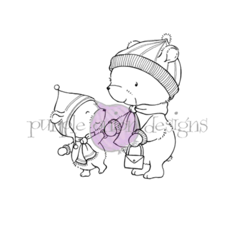 Purple Onion Designs MILES AND BETH Cling Stamp pod1196 zoom image