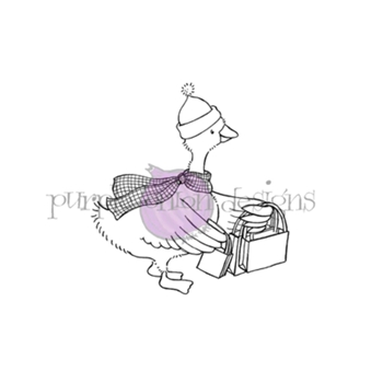Purple Onion Designs POINSETTIA Cling Stamp pod1195