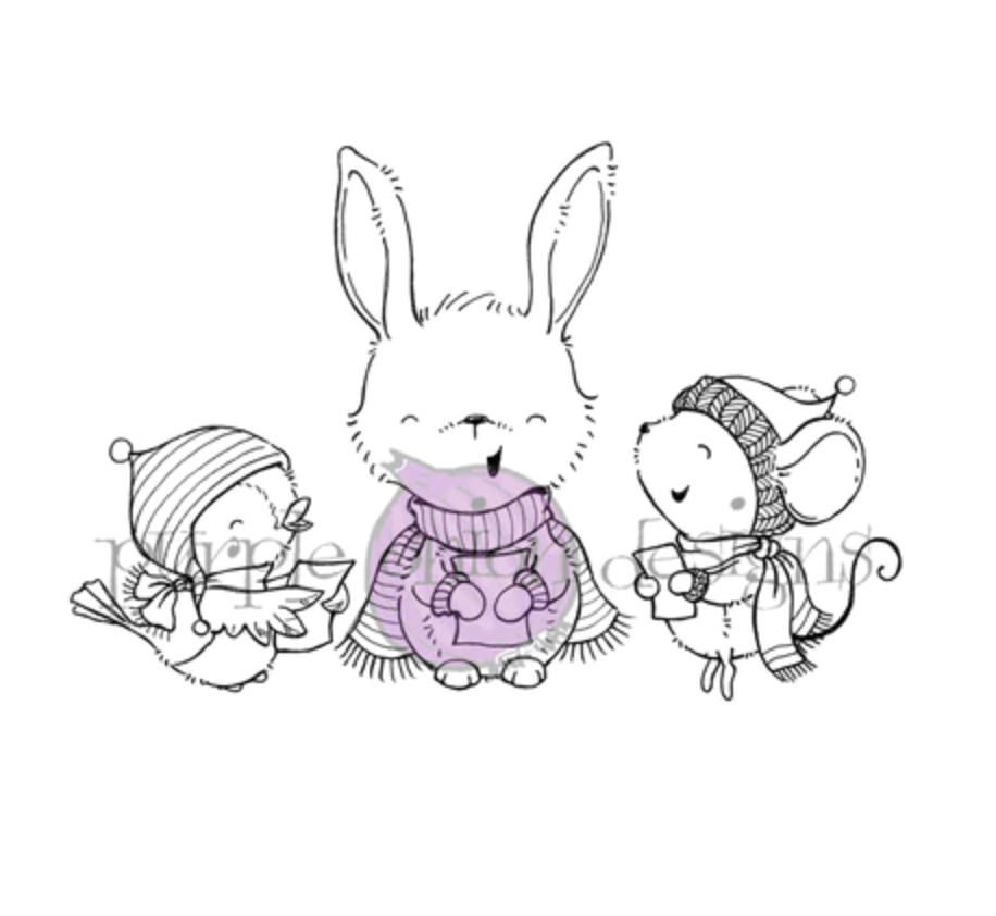 Purple Onion Designs SNOW CROONERS Cling Stamp pod1201 zoom image
