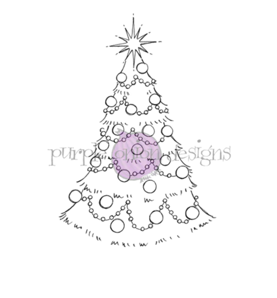 Purple Onion Designs SPARKLE TREE Cling Stamp pod1211 zoom image