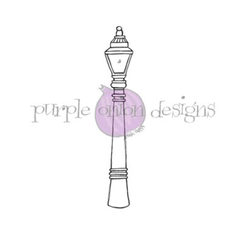 Purple Onion Designs STREET LIGHT Cling Stamp pod1206 Preview Image