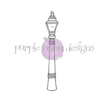 Purple Onion Designs STREET LIGHT Cling Stamp pod1206