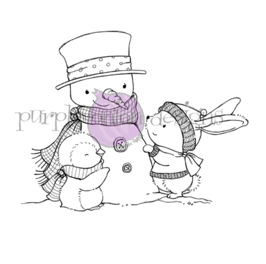 Purple Onion Designs SWEET SNOW FRIENDS Cling Stamp pod1202 zoom image