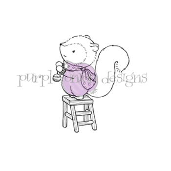 Purple Onion Designs TINSEL Cling Stamp pod1204