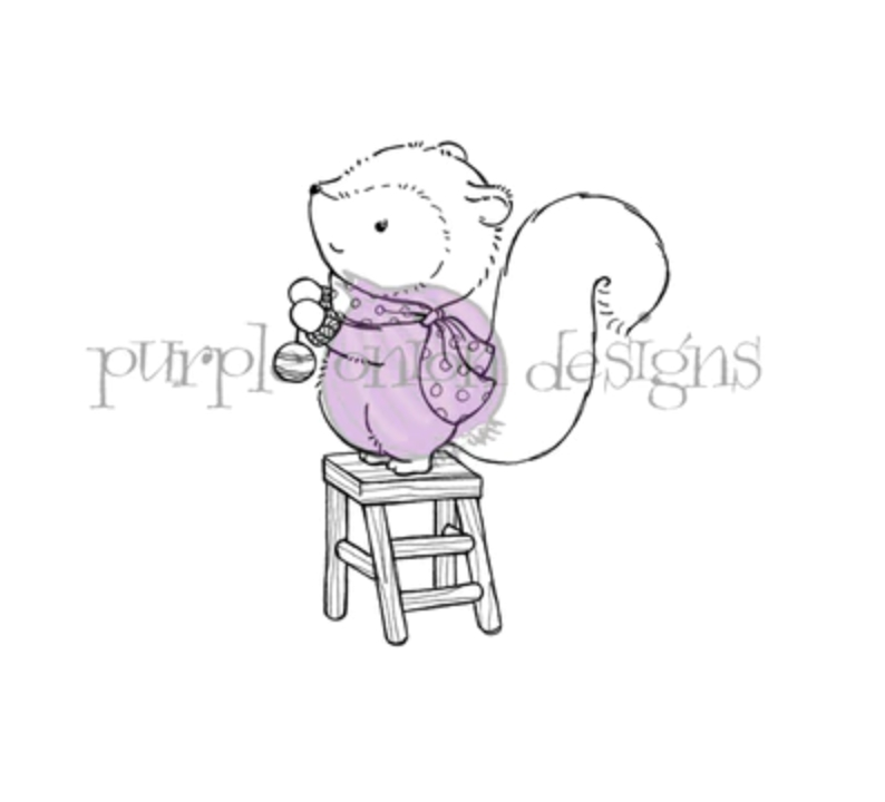 Purple Onion Designs TINSEL Cling Stamp pod1204 zoom image