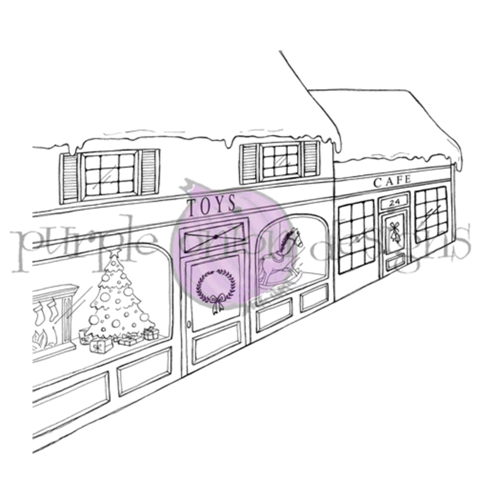 Purple Onion Designs TOY STORE BACKGROUND Cling Stamp pod1212 Preview Image
