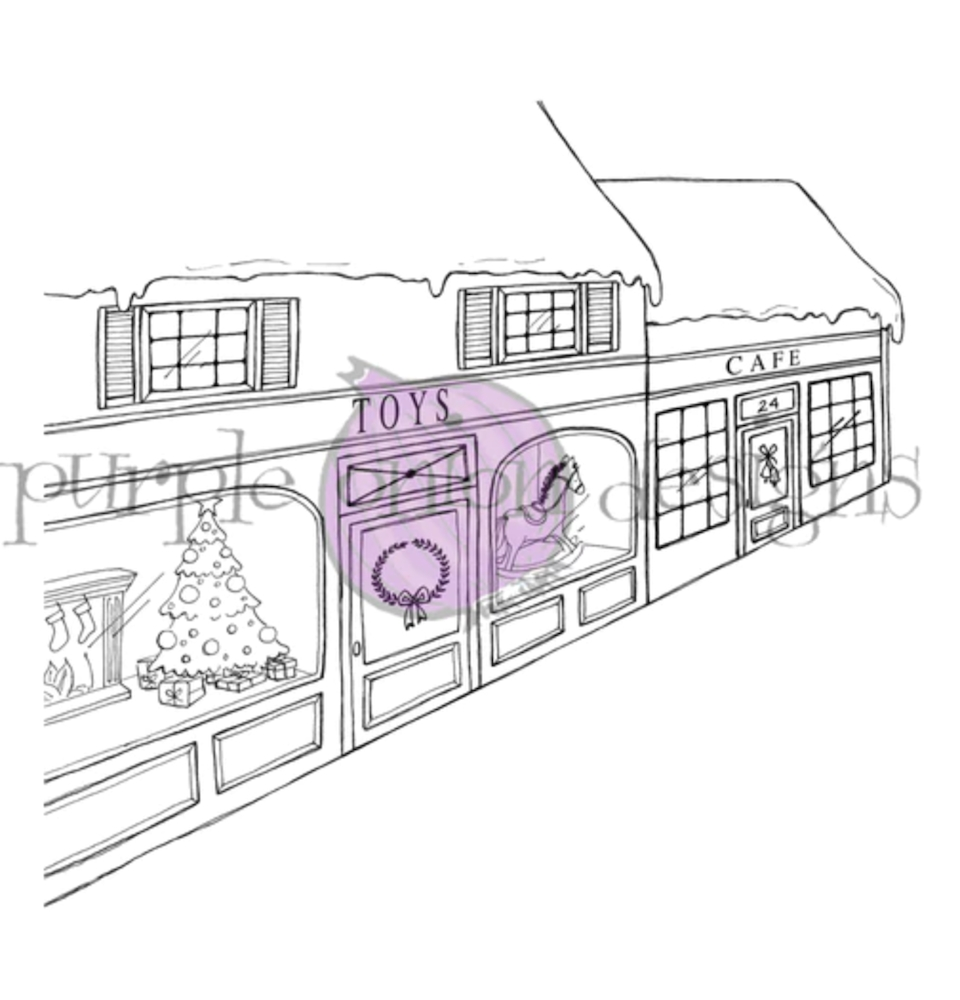 Purple Onion Designs TOY STORE BACKGROUND Cling Stamp pod1212 zoom image