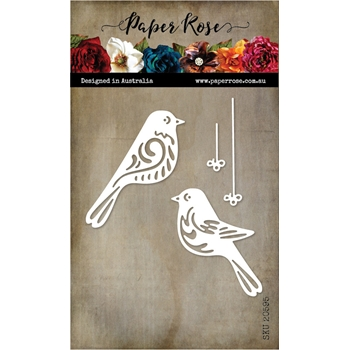Paper Rose BIRD ORNAMENTS Dies 20595