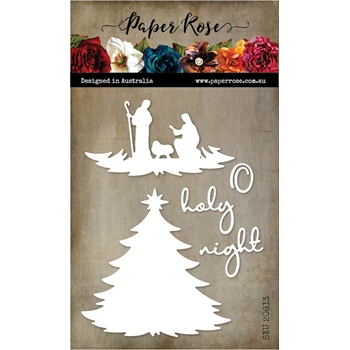 Paper Rose NATIVITY TREE Dies 20613