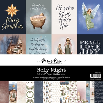 Paper Rose HOLY NIGHT 12x12 Paper Pack 20661