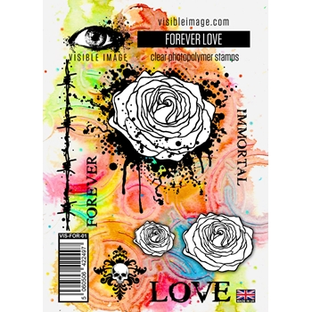 Visible Image FOREVER LOVE Clear Stamps VIS FOR 01