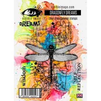 Visible Image DRAGONFLY DREAMS Clear Stamps VIS DRD 01