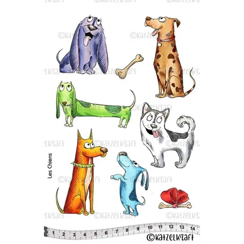 Katzelkraft LES CHIENS Red Rubber Unmounted Stamp KTZ161 Preview Image