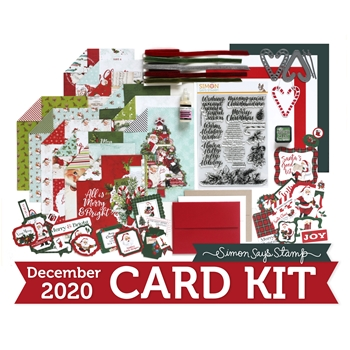 Simon Says Stamp Card Kit of the Month December 2020 JOYFUL SEASON ck1220