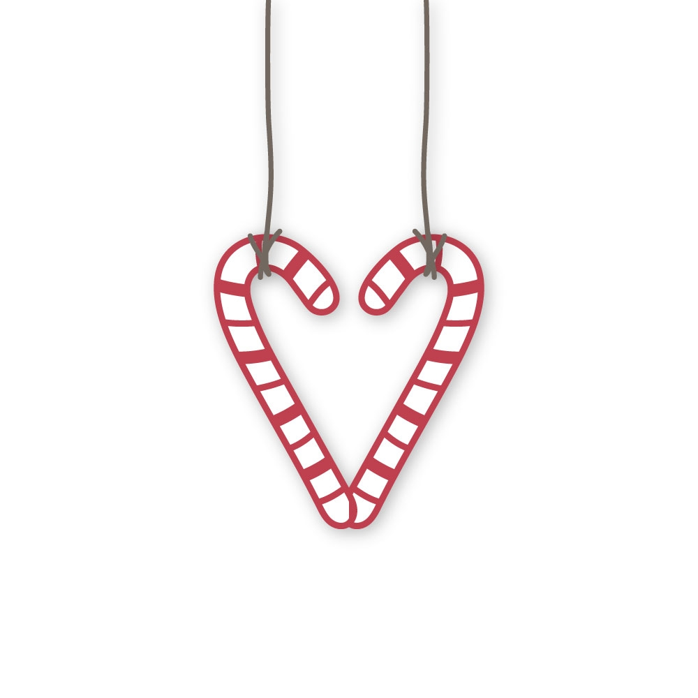 Simon Says Stamp CANDY CANE HEART Wafer Dies sssd112280 zoom image