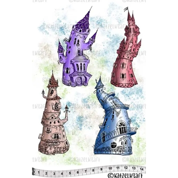 Katzelkraft LES CHATEAUX Red Rubber Unmounted Stamp KTZ172*