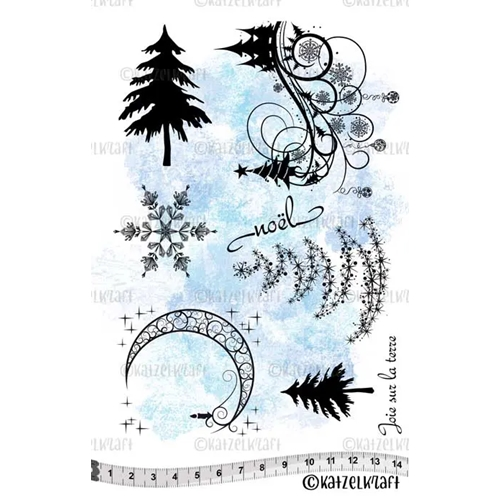 Katzelkraft CHRISTMAS Red Rubber Unmounted Stamp KTZ045 Preview Image