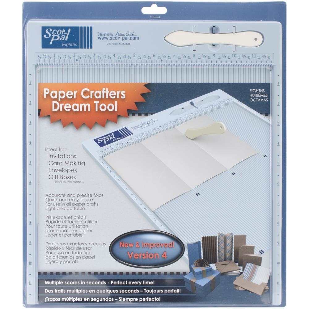 Scor-Pal 12x12 INCH MEASURING AND SCORING BOARD Tool Eighths 2636 zoom image