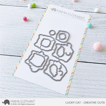 Mama Elephant LUCKY CAT Creative Cuts Steel Dies